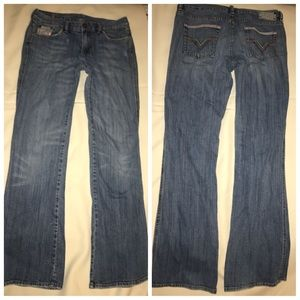 Diesel size 30 Boot Cut Leg Jeans Denim